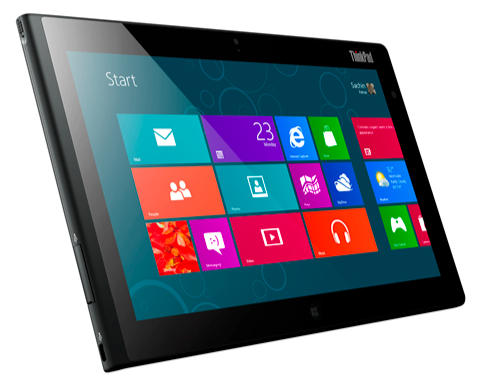 Lenovo:  Windows 8, ThinkPad Tablet 2