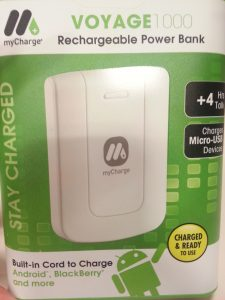 mycharge Voyage 1000 Front Package - tech we like - review