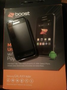 Samsung Galaxy Rush (For Boost Mobile) Phone and Box