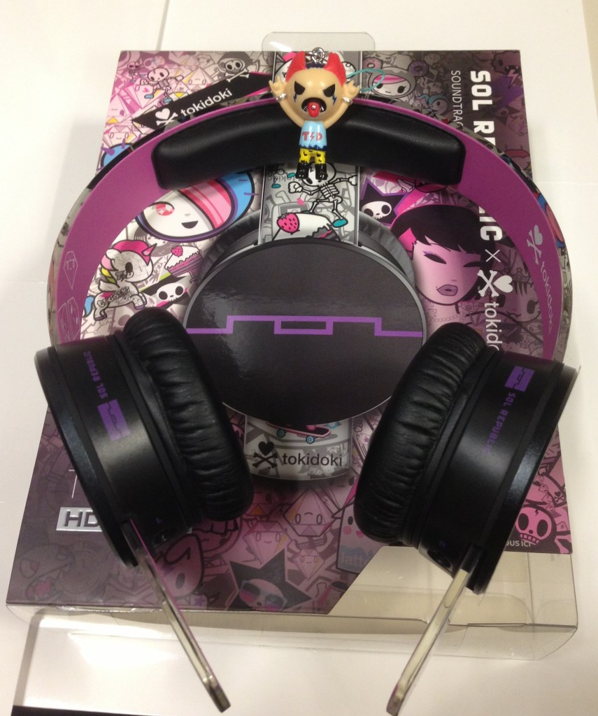 Sol Republic tokidoki Tracks HD On-Ear Headphones - Analie Cruz - TWL - Cans and Keychain