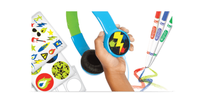 Crayola MyPhones Headphones For Children - Tech We Like Griffin -slide-overear2