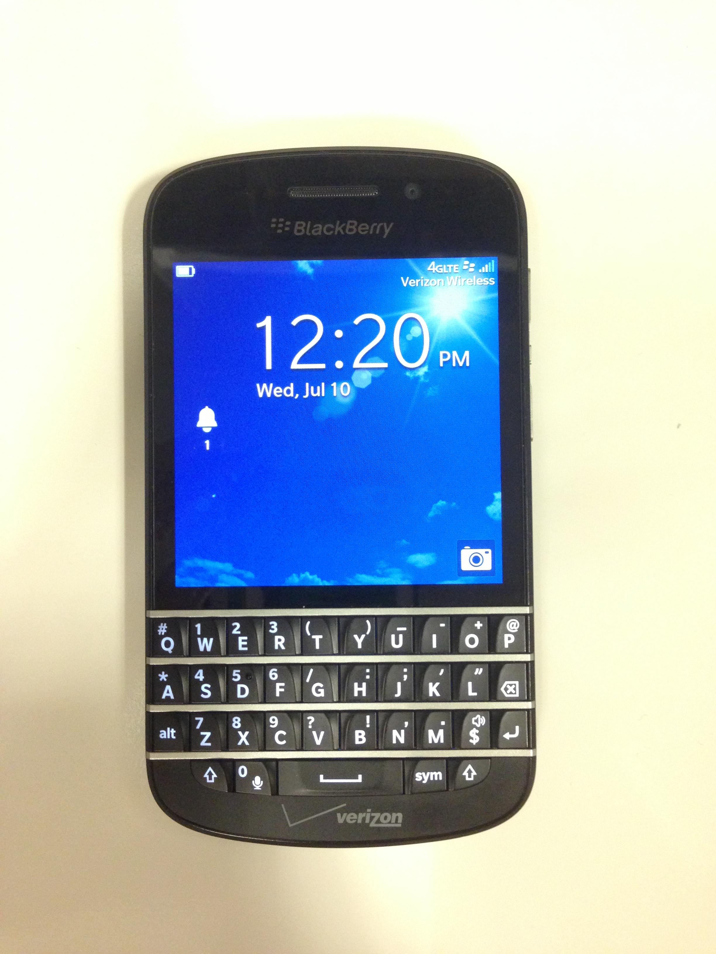 BlackBerry Q10 on Verizon Wireless - What BB Fans Have Been