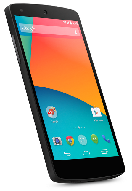 Google Nexus 5 Android Smartphone at Google Play Store- slant
