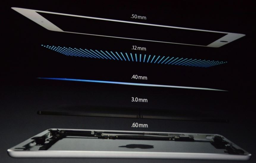 New Apple  iPad Air - The Power of Lightness- components