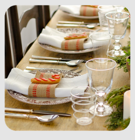 Apps for the Holidays Table Setting Ideas