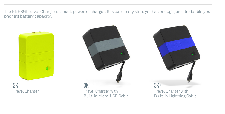 TYLT ENERGI travel battery packs ces 2014