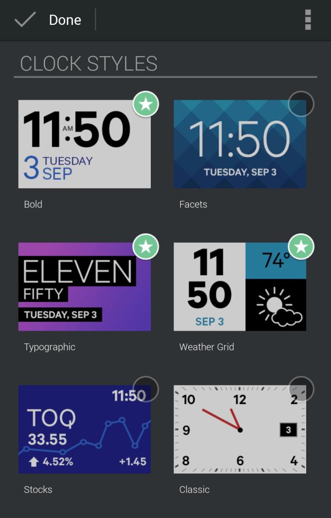 Qualcomm Toq Smartwatch Review  - Tech We Like - Qualcomm Toq App Screenshot  (8) - Clock Styles