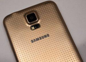 Samsung Galaxy S5 Gold Back