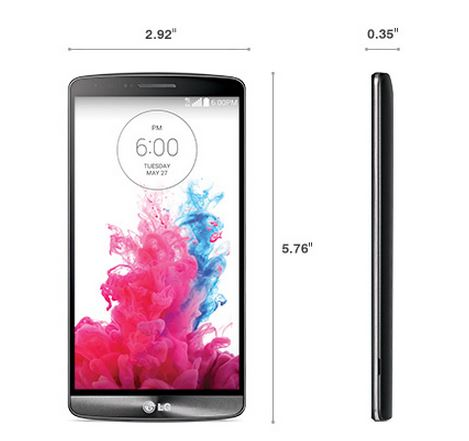 LG G3 Smartphone - Size - Dimensions - LGG3