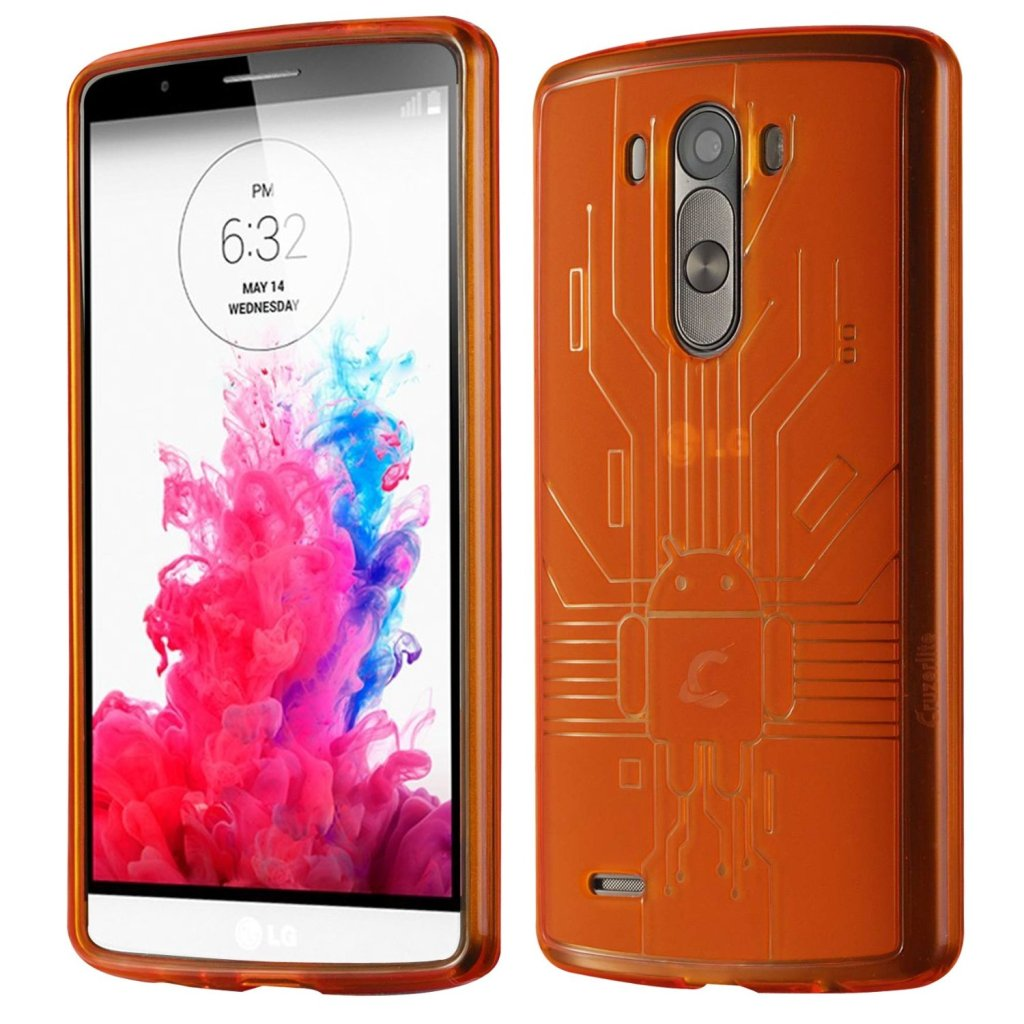 Cruzerlite Bugdroid Circuit Case for LG G3 - LGG3 - Orange