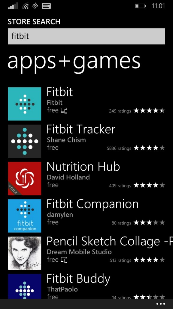 Fitbit App Windows Phone 8.1 - Microsoft Windows App Store (12)