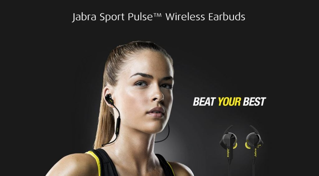 Jabra SPORT Pulse Wireless Earbuds Headphones - Beat Your Best