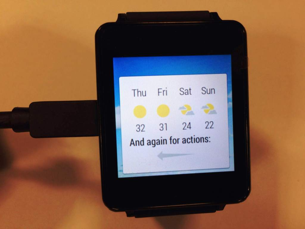 LG G Watch Review - Smartwatch - Tutorials on swiping cards