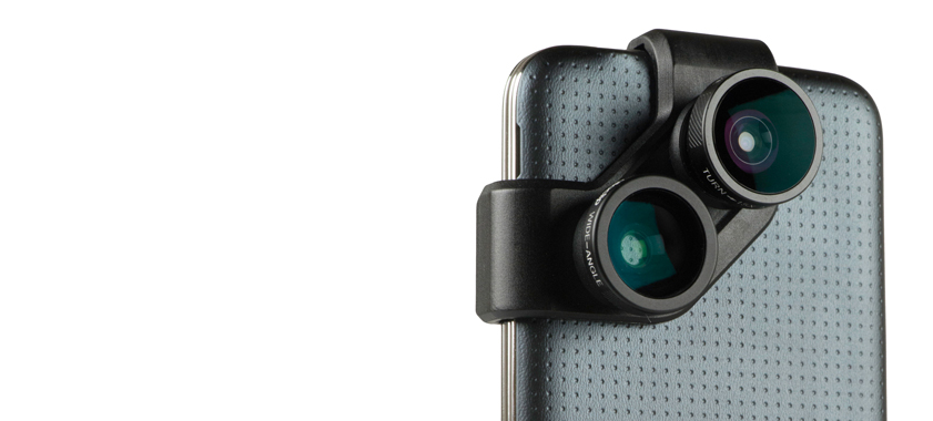 Olloclip 4-in-1 photo lens for samsung galaxy s5 and galaxy s4 - on phone