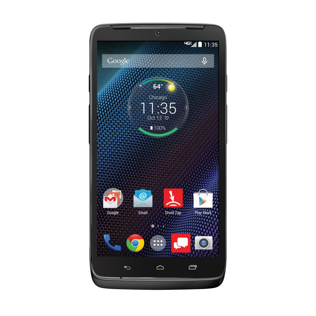 Motorola DROID Turbo Smartphone - Verizon Wireless - Black Nylon -Front - Analie Cruz
