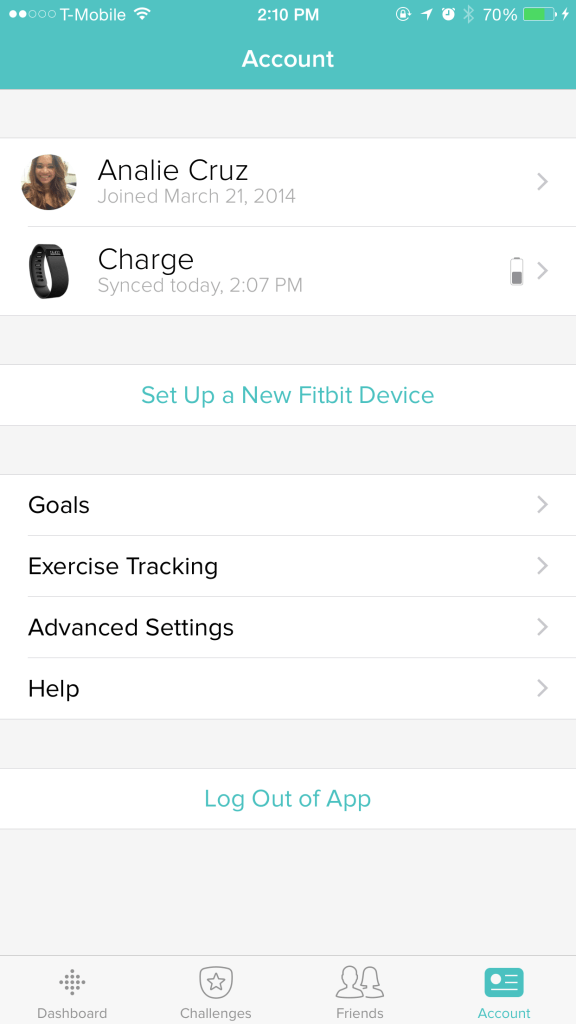 Fitbit Charge Review - Fitbit App - Analie Cruz (4)
